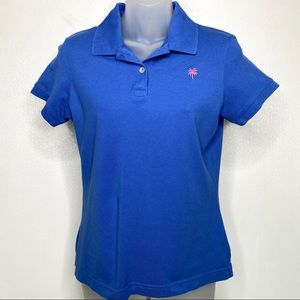 LILLY PULITZER Royal Blue Polo Size Small